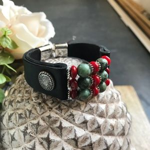 Jewelry - Hand Crafted Leather Cuff